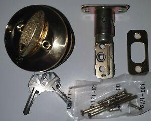 Kwikset 96600-013 660 Single Cylinder Deadbolt Polished Brass