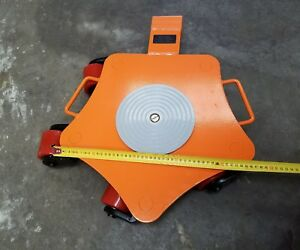 4 Ton heavy machine directional dolly skate cargo trolley rotational roller skid