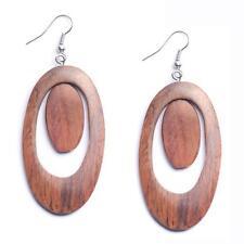 Modeschmuck-Ohrschmuck im Hänger-Stil aus Holz und Sterlingsilber
