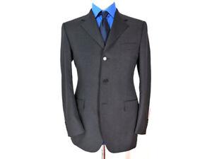 Canali 3 Button Blazer Dark Gray Wool Size US 40 EU 50