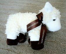 Collectible Chatsworth House Souvenir White & Brown Baalington Sheep With Ribbon