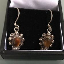 Silver Women's 'TIGER'S EYE STYLE' Earrings