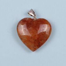 AZOZEO™ HIMALAYA RED AZEZTULITE™ POLISHED GEMSTONE 25MM HEART PENDANT