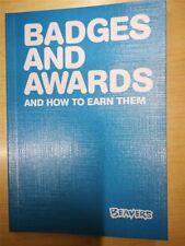 Beavers Badges and Awards Book Edition No 5 2018