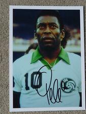 Pele, BRAZIL, FC SANTOS, COSMOS NEW YORK, hand signed photo, size 6 x 8