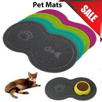 """8"" Shape Pet Dog Puppy Cat PVC Placemat Dish Bowl Feeding Food Mat Wipe Clean"