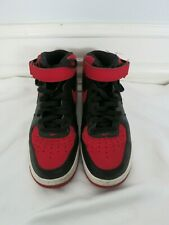 NIKE red and black high top sneaker size 9