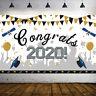 KQ_ HB- 200CMX115CM CONGRATS GRAD BACKGROUD 2020 GRADUATION BANNER HANGING PARTY