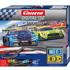 Carrera Digital 132 GT Race Battle Slot Car Set MERCEDES AMG BMW M6 20030011