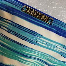 14 Lauren Ralph Lauren Bikini Bottom Blue White Aqua Print Swim Bathing Suit