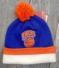 NEW YORK KNICK MITCHELL & NESS NBA SPORT KNIT POM BEANIE CAP HAT KE31Z