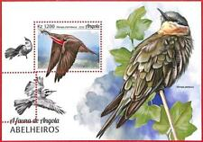A1542 - ANGOLA - ERROR: MISPERF SOUVENIR SHEET - 2018 Birds  MEROPS Bee Eaters