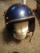 Vintage 1970s Blue Metal Flake DOT Motorcycle Helmet