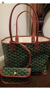 Goyard Reversable Canvas Bag And Purse