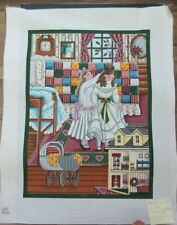 Rebecca  Patchwork Quilt: Hand Painted Needlepoint Canvas SQ286  Retail: $607