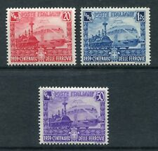 ITALY 1932 RAILWAY TRAIN MNH Set 3 Stamps cat EURO 17