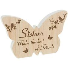 Sister Gift - Butterfly wooden plaque with sentiment 60594