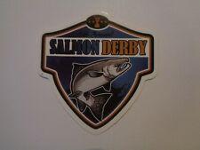 "Fishing Box,Phone,Laptop or Car Vinyl Sticker "" Salmon Derby """