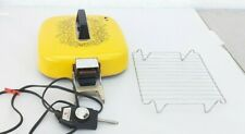 Vintage 1974 yellow hoover tri pan electric fry pan lid power cord cover
