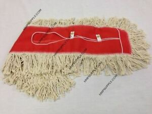"TUS 3050R Cotton Pro Natural Cotton Blended Dust Mop Head / 30"" x 5"""