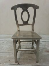 """Heavy MINIATURE 8"""" Metal Chair Dining Doll House Victorian"""