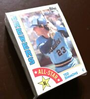 50) TED SIMMONS Milwaukee Brewers 1984 Topps All Star #404 LOT