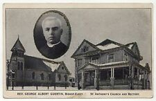 MANCHESTER NEW HAMPSHIRE PC Postcard BISHOP GEORGE GUERTIN Catholic CHURCH