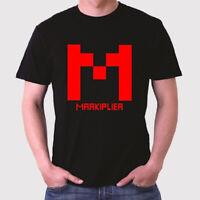 Markiplier Famous Vlogger Red Logo Men's Black T-Shirt Size S to 3XL