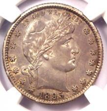 1895-O Barber Quarter 25C Coin - Certified NGC AU Details - Rare Date!