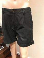 ❤️❤️❤️ Diesel $300 Black Shiny Shorts Short Pants Size S 8 Or Smaller 10 ❤️❤️❤️
