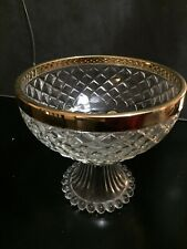 Large Crystal Footed Bowl. Genuine 24ct Gold Rim. Stunning Walther W Germany