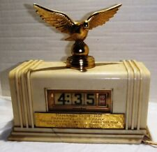 VINTAGE ART DECO  CLOCK FROM 1952 PIGEON RACE HAMILTON CLUB BIRD RACES BALTIMORE