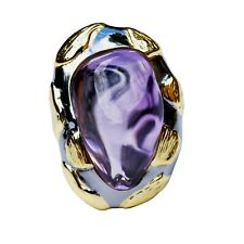 Nice Retro Style Natural Amethyst open size S925 sterling silver ring 80ct 23