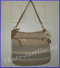 The Sak PORTOLA HOBO style 106914 SANDSTRIPE Crochet HANDBAG NEW w TAGS