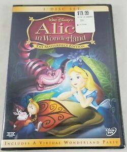 Alice In Wonderland Disney Masterpiece Edition 2 Disc DVD Authentic New Sealed