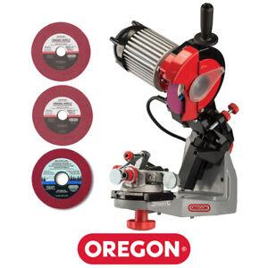 Oregon 620-120 Premium Hydraulic Bench Grinder Chainsaw Chain Sharpener 120V