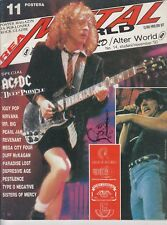 AC/DC MUSIC MAGAZINE + POSTER 1993 CROATIA NIRVANA DEEP PURPLE