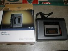 Optimus Cassette Tape Recorder Ctr-112 In Box Tested & Works