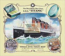 REPRINT PICTURE TITANIC WHITE STAR LINER old ship sign vinolia otto soap 7x6 1/8