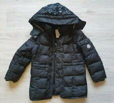 Auth Moncler Boy Girls Down Jacket Coat Hood Sz 8 years 128 cm Black Gabriel