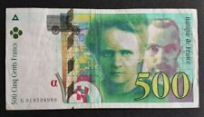 FRANCE - FRANCIA - FRENCH NOTE - BILLET DE 500F PIERRE & MARIE CURIE 1994 .