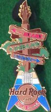 Hard Rock Cafe NASSAU BAHAMAS 2010 Signpost Directional Signs GUITAR PIN #55729