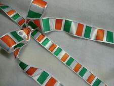 ENGLISH, SCOTTISH, WELSH, IRISH, BRITISH PATRIOTIC+ FLAG RIBBONS,25 mm AND 35mm