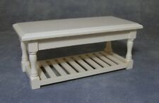 White Working Table. Dolls House Miniature Living / Lounge / Dining Room