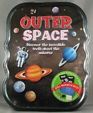OUTER SPACE TIN * NEW INCLUDES STICKER BOOK, FACT FILE, SOLAR SYSTEM MAGNETS KIT