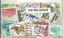 Lot de 100 timbres de Belgique