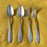 Antique Set of 2 Serving Spoon & Forks Beautiful French Argent 84 Silver Plated