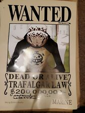 US SELLER- TRAFALGAR LAW WANTED anime manga cosplay poster large wall posters