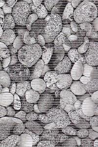 Weichschaummatte Badevorleger für WC & Küche Antirutschmatte Grau Weiß Steine