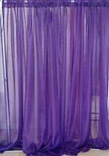 "Wedding drape 2 panel set, 7'x56"" wide, White, Ivory and colors, backdrop."